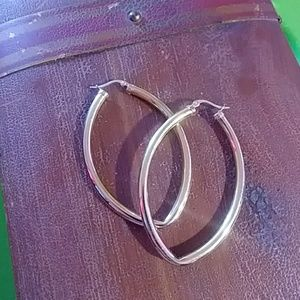 Large gold hoops!